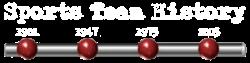 Sports Team History Logo