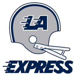 Los Angeles Express Primary Logo 1983 - 1985