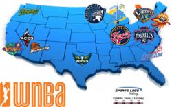 WNBA Teams Map 2018 - 800 x 500