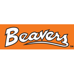 Oregon State Beavers Wordmark Logo 1979 - 1996