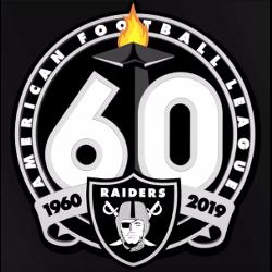 Oakland Raiders 60th Anniversary Logo
