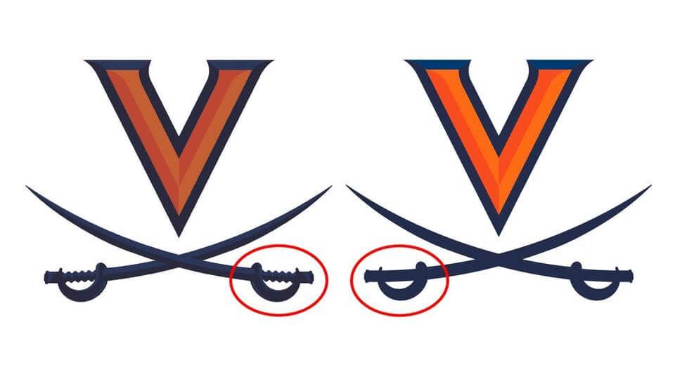 Virginia Cavaliers Two Logos